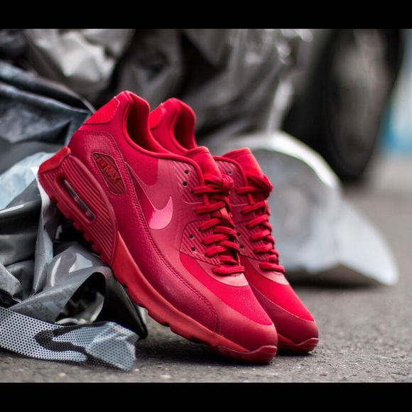 cheaper c1bbd 01a3c Nike Women's Air Max 90 Ultra Essential Triple Red